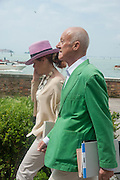 SIR NORMAN AND LADY FOSTER, Venice. Venice Bienalle. 28 May 2013