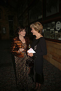 Miriam Stoppard and Jenny Cate, The Blush Ball, Natural History Museum, London<br />Breast Cancer Haven trust charity evening for the construction of a third Haven in North England. ONE TIME USE ONLY - DO NOT ARCHIVE  © Copyright Photograph by Dafydd Jones 66 Stockwell Park Rd. London SW9 0DA Tel 020 7733 0108 www.dafjones.com