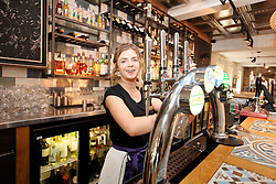 UK ENGLAND BOSTON 7SEP16 - Barmaid Sydnie Hocknall  (18) at the White Heart Bar & Coffee House in Boston town centre.<br /> <br /> jre/Photo by Jiri Rezac<br /> <br /> © Jiri Rezac 2016