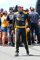 July 29, 2018 - Long Pond, PA, U.S. - LONG POND, PA - JULY 29:   Monster Energy NASCAR Cup Series driver Landon Cassill Lock Haven University Chevrolet (00) during driver introductions prior to the Monster Energy NASCAR Cup Series - 45th Annual Gander Outdoors 400 on July 29, 2018 at Pocono Raceway in Long Pond, PA. (Photo by Rich Graessle/Icon Sportswire) (Credit Image: © Rich Graessle/Icon SMI via ZUMA Press)