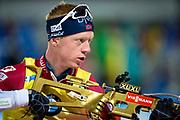 &Ouml;STERSUND, SVERIGE - 2017-12-02: Johannes Thingnes Boe under herrarnas sprint t&auml;vling under IBU World Cup Skidskytte p&aring; &Ouml;stersunds Skidstadion den 2 december 2017 i &Ouml;stersund, Sverige.<br /> Foto: Johan Axelsson/Ombrello<br /> ***BETALBILD***