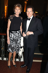 LADY JANE SPENCER-CHURCHILL and VISCOUNT LINLEY at the Russian Rhapsody Gala dinner concert held at The Royal Albert Hall, London on 11th April 2005.  <br />