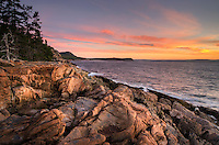 Morninhg light at Otter Cliffs, Acadia National Park