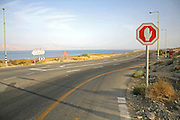 stop sign in the dead sea region