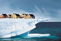 Houses on Edge of Ice Cliff