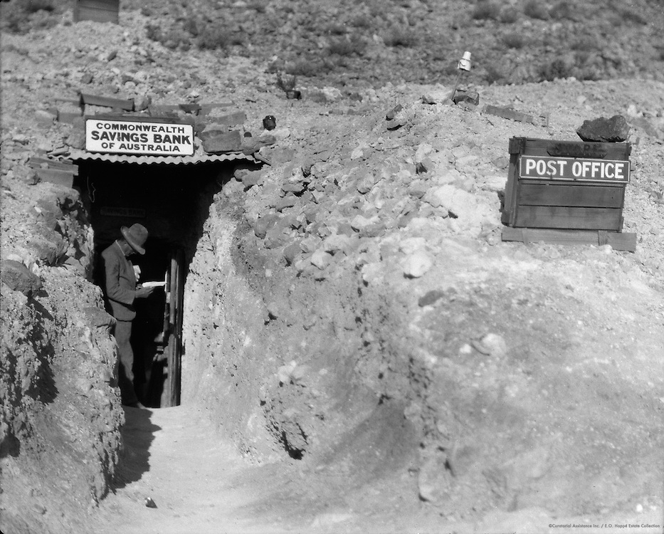 """The Bank"" at Coober Pedy Opal Fields, South Australia, 1930"