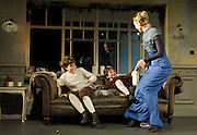 A Doll's House<br /> by Henrik Ibsen <br /> English language version by Simon Stephens<br /> at The Young Vic Theatre, London, Great Britain <br /> 6th July 2012 <br /> <br /> directed by Carrie Cracknell<br /> design by Ian MacNeil<br /> Costumes by Gabrielle Dalton <br /> Lighing by Guy Hoare<br /> Choreography by Quinny Sacks<br /> Hair &amp; Make up by Cambell Young <br /> <br /> Hattie Morahan as Nora Helmer<br /> <br /> Jake Tuesley as Jon Helmer<br /> <br /> Dominic Rowan as Torvald Helmer<br /> <br /> Vincent Curson-Smith as Ivan Helmer<br /> <br /> Susannah Wise as Kristine Linde<br /> <br /> <br /> Photograph by Elliott Franks