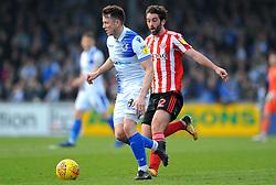 Will Grigg of Sunderland applies pressure on Ollie Clarke of Bristol Rovers- Mandatory by-line: Nizaam Jones/JMP - 23/02/2019 - FOOTBALL - Memorial Stadium - Bristol, England - Bristol Rovers v Sunderland - Sky Bet League One