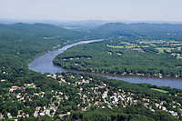 Connecticut River looking north to Mount Tom and Mount Holyoke, South Hadley, MA