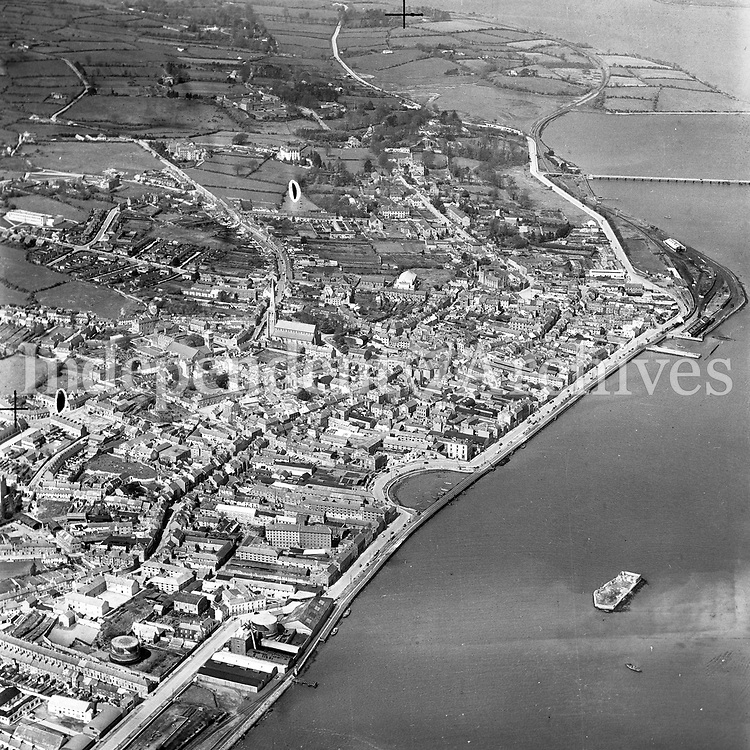 A446 Wexford.   27/08/54. (Part of the Independent Newspapers Ireland/NLI collection.)<br /> <br /> <br /> These aerial views of Ireland from the Morgan Collection were taken during the mid-1950's, comprising medium and low altitude black-and-white birds-eye views of places and events, many of which were commissioned by clients. From 1951 to 1958 a different aerial picture was published each Friday in the Irish Independent in a series called, 'Views from the Air'.