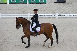Sascha Schulz, (LUX), Wito Corleone 2 - Grand Prix Team Competition Dressage - Alltech FEI World Equestrian Games™ 2014 - Normandy, France.<br /> © Hippo Foto Team - Leanjo de Koster<br /> 25/06/14