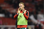Barnsley's Jason McCarthy (2) applauds the Barnsley supporters during the EFL Sky Bet Championship match between Nottingham Forest and Barnsley at the City Ground, Nottingham, England on 24 April 2018. Picture by Jon Hobley.