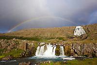 Islande, fjord de l Ouest, cascade de Dynjandi // Iceland, Westfjords, Dynjandi waterfall