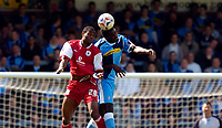 Photo: Alan Crowhurst.<br />Wycombe Wanderers v Darlington. Coca Cola League 2. 29/04/2006. Will Antwi (R) of Wycombe and Akpo Sodje.