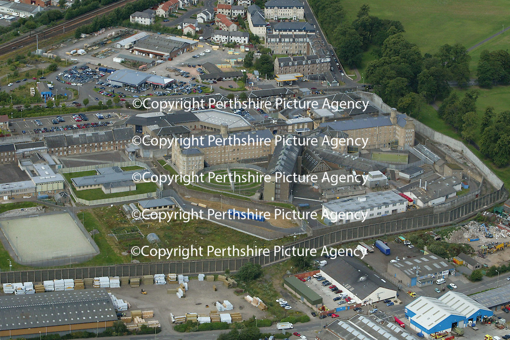 An aerial view of Perth Prison<br /><br />Picture by Graeme Hart.<br />Copyright Perthshire Picture Agency<br />Tel: 01738 623350  Mobile: 07990 594431