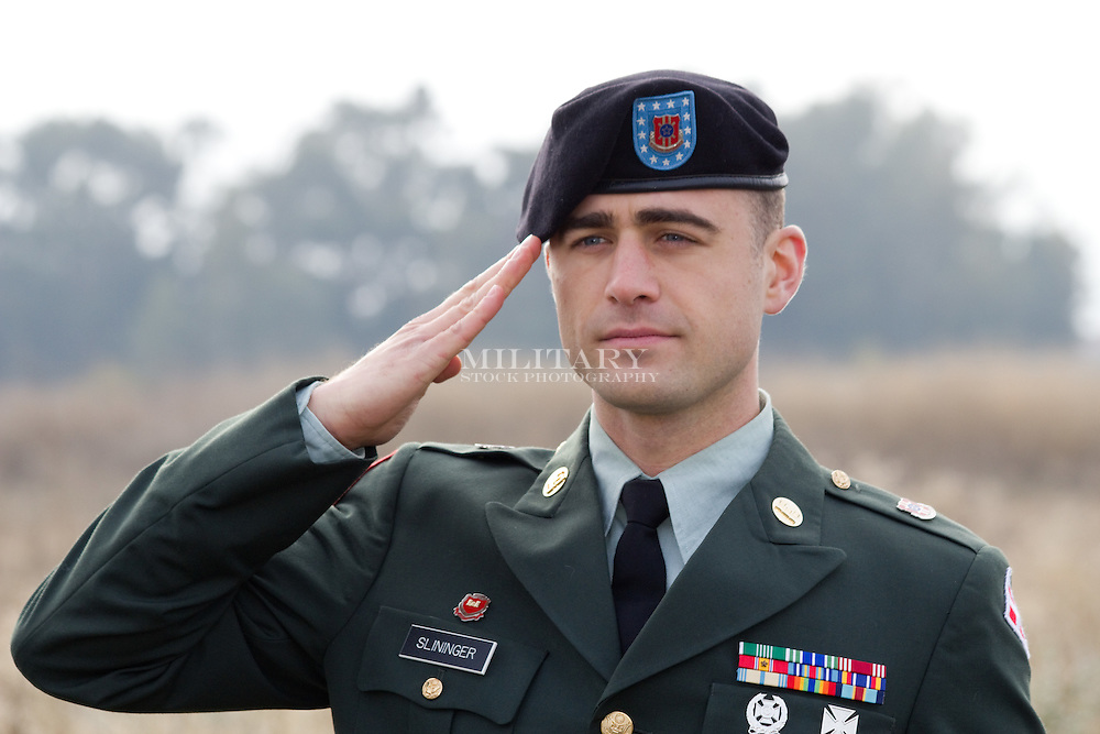 Model-released US Army sergeant (National Guard, not on active duty) in Class A uniform.  Does not meet DoD advertising criteria without image editing to obscure rank insignia, unit crests, and decorations.