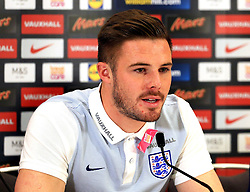 England goalkeeper Jack Butland (Stoke City) speaks to the media - Mandatory byline: Matt McNulty/JMP - 22/03/2016 - FOOTBALL - St George's Park - Burton Upon Trent, England - Germany v England - International Friendly - England Training and Press Conference