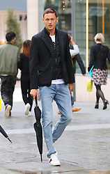 Manchester United's Nemanja Matic is seen out and about in Manchester city centre.