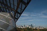 Paris Louis Vuitton Fondation in  Bois de Boulogne , designed by the american architect Frank Gehry/ la fondation Louis Vuitton dans le bois de Boulogne.