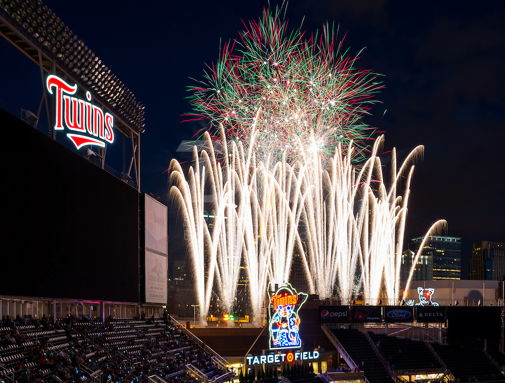 A general view of Target Field on July 3, 2014 in Minneapolis, Minnesota.  Photo by Ben Krause