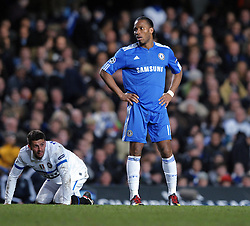 A dejected Didier Drogba of Chelsea during the second leg of the round of 16 UEFA Champions League match at home to Chelsea at Stamford Bridge football stadium, London on March 16, 2010.