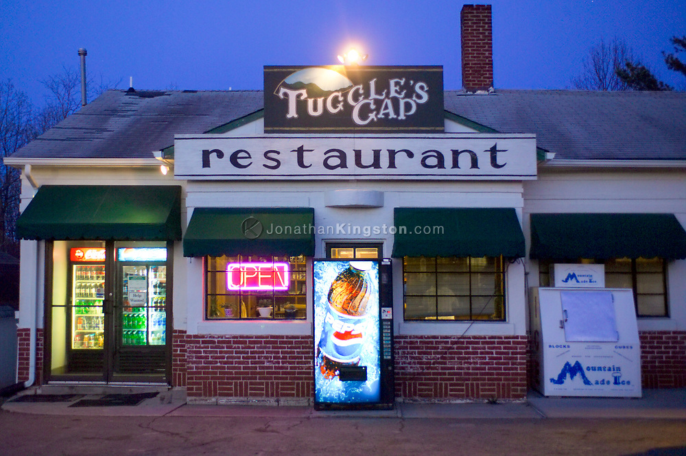 FLOYD, VA, Tuggles Gap restaurant, located just off the Blue Ridge Parkway in Floyd, Virginia.  The restaurant is a popular stop for motorcyclists, locals and tourists alike.