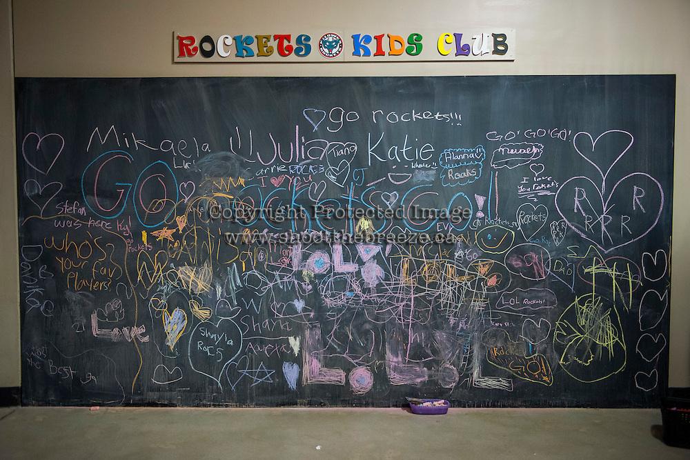 KELOWNA, CANADA - FEBRUARY 18: The Rockets Kids Club board on February 18, 2017 at Prospera Place in Kelowna, British Columbia, Canada.  (Photo by Marissa Baecker/Shoot the Breeze)  *** Local Caption ***