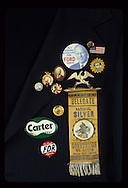 Political Campaign buttons from the Smithsonian Institution...Photograph by Dennis Brack bb33