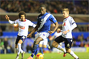 Clayton Donaldson, Josh Vela during the Sky Bet Championship match between Birmingham City and Bolton Wanderers at St Andrews, Birmingham, England on 23 February 2016. Photo by Daniel Youngs.