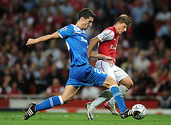 28.09.2011, Emirates Stadium, London, ENG, UEFA CL, Gruppe F, FC Arsenal (ENG) vs Olympiakos Piräus (GRE), im Bild Arsenal's Andrei Arshavin in action against Olympiacos // during the UEFA Champions League game, group F, ENG, UEFA CL, FC Arsenal (ENG) vs Olympiakos Piräus (GRE) at Emirates Stadium in London, United Kingdom on 2011/09/28. EXPA Pictures © 2011, PhotoCredit: EXPA/ Propaganda Photo/ Chris Brunskill +++++ ATTENTION - OUT OF ENGLAND/GBR+++++