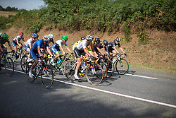 Katarzyna Niewiadoma (POL) and Marianne Vos (NED) of Rabo-Liv Cycling Team try to find a race-winning tactic in the penultimate lap of the 121.5 km road race of the UCI Women's World Tour's 2016 Grand Prix Plouay women's road cycling race on August 27, 2016 in Plouay, France. (Photo by Balint Hamvas/Velofocus)