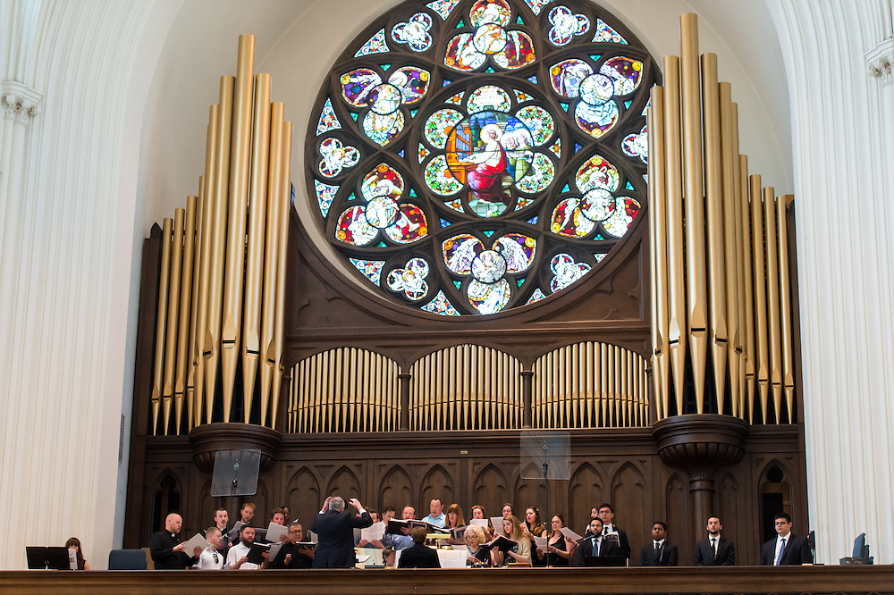 DENVER, CO - MAY 16: The choir performs during an ordination for priests in the Archdiocese of Denver at the Cathedral Basilica of the Immaculate Conception on May 16, 2015, in Denver, Colorado. (Photo by Daniel Petty/Denver Catholic Register)