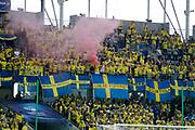 KIELCE, POLEN 2017-06-16<br /> Svenska Fans under UEFA U21 matchen mellan Sverige och England p&aring; Arena Kielce den 16 juni, 2017.<br /> Foto: Nils Petter Nilsson/Ombrello<br /> Fri anv&auml;ndning f&ouml;r kunder som k&ouml;pt U21-paketet.<br /> Annars Betalbild.<br /> ***BETALBILD***