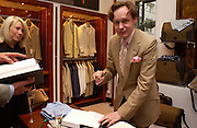 Nick Foulkes, Nick Foulkes biography of Count D'Orsay, Love of the Dandies  party, Dunhill, Jermyn St. 3 June 2003. © Copyright Photograph by Dafydd Jones 66 Stockwell Park Rd. London SW9 0DA Tel 020 7733 0108 www.dafjones.com