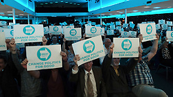 Brexit Party Rally, Edinburgh, Friday 17th May 2019<br /> <br /> The Brexit Party held a rally in the Corn Exchange, Edinburgh today with leader Nigel Farage giving a speech.<br /> <br /> A protest was held outside by the Stand Up To Racism group.<br /> <br /> Pictured: Crowd shot<br /> <br /> Alex Todd | Edinburgh Elite media