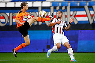 Onderwerp/Subject: Willem II - FC Volendam - Jupiler League<br /> Reklame:  <br /> Club/Team/Country: <br /> Seizoen/Season: 2013/2014<br /> FOTO/PHOTO: Bruno ANDRADE ( Bruno Fernandes ANDRADE DE BRITO ) (R) of Willem II in duel with Gerry KONING (L) of FC Volendam. (Photo by PICS UNITED)<br /> <br /> Trefwoorden/Keywords: <br /> #04 $94 &plusmn;1372506528100<br /> Photo- &amp; Copyrights &copy; PICS UNITED <br /> P.O. Box 7164 - 5605 BE  EINDHOVEN (THE NETHERLANDS) <br /> Phone +31 (0)40 296 28 00 <br /> Fax +31 (0) 40 248 47 43 <br /> http://www.pics-united.com <br /> e-mail : sales@pics-united.com (If you would like to raise any issues regarding any aspects of products / service of PICS UNITED) or <br /> e-mail : sales@pics-united.com   <br /> <br /> ATTENTIE: <br /> Publicatie ook bij aanbieding door derden is slechts toegestaan na verkregen toestemming van Pics United. <br /> VOLLEDIGE NAAMSVERMELDING IS VERPLICHT! (&copy; PICS UNITED/Naam Fotograaf, zie veld 4 van de bestandsinfo 'credits') <br /> ATTENTION:  <br /> &copy; Pics United. Reproduction/publication of this photo by any parties is only permitted after authorisation is sought and obtained from  PICS UNITED- THE NETHERLANDS