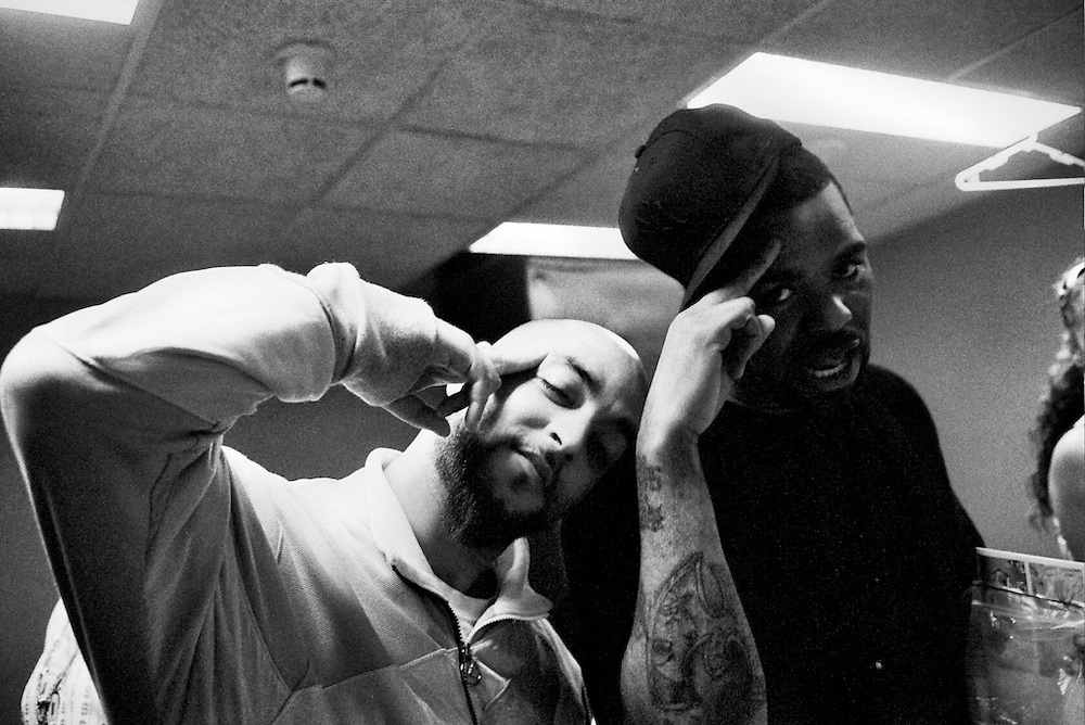 Salahedin and Method Man backstage at the Wu-Tang's show in Amsterdam.