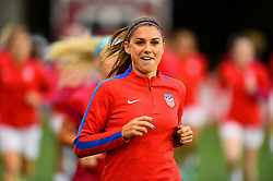 September 19, 2017 - Cincinnati, OH, USA - Cincinnati, OH - Tuesday September 19, 2017: Alex Morgan during an International friendly match between the women's National teams of the United States (USA) and New Zealand (NZL) at Nippert Stadium. (Credit Image: © Brad Smith/ISIPhotos via ZUMA Wire)