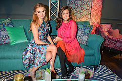 Left to right, NIOMI SMART and ROSE THOMAS at the Duresta For Matthew Williamson Exclusive Launch At Harrods, Knightsbridge, London on 10th March 2016.