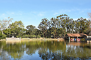 Pond and Paddle Boat Rental Shed at Irvine Regional Park