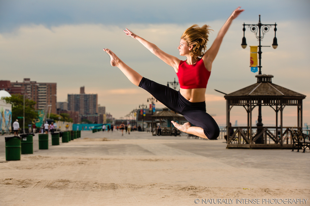 Coney Island Boardwalk. Dance As Art- The New York Photography Project featuring dancer, Brianna Figueroa