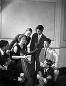 1959 - Spanish students at a performance of the Gael - Linn Cabaret at the Central Hotel