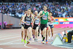22/07/2017 : Michael McKillop (IRL), Liam Stanley (CAN), Shayne Dobson (CAN), T37, Men's 1500m, Final, at the 2017 World Para Athletics Championships, Olympic Stadium, London, United Kingdom
