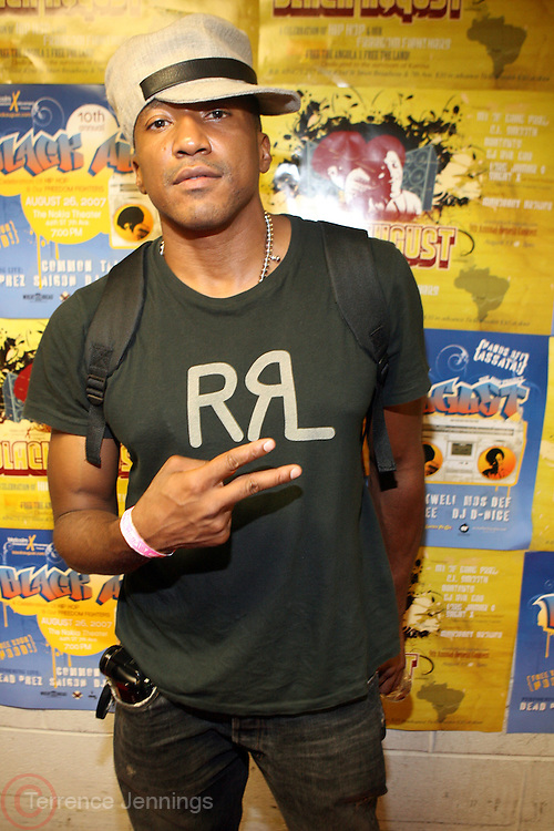 Q-Tip at The 2008 Black August Benefit Concert held at BB Kings on August 31, 2008..2008 begins the second decade of Black August Hip Hop Project benefit concerts which assist and support Political Prisoners. The Malcolm X Grassroots Movement is an organization whose mission is to defend the human rights of people and promote self-determination in our community.