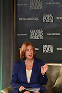 Ilene S. Gordon, Chairman, President and CEO, Ingredion Incorporated, at the The Wall Street Journal 2016 GLOBAL FOOD FORUM in New York City on October 6, 2016. (photo by Gabe Palacio)