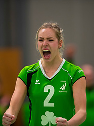 19-01-2019 NED: Pharmafilter US - Dros-Alterno, Amsterdam<br /> Round 15 of Eredivisie volleyball. Alterno win 3-0 (17-25 16-25 20-25) of US / Tess de Vries #2 of Alterno