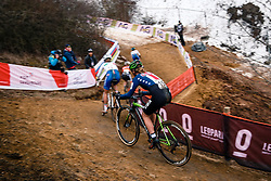 Emma WHITE of USA during the Women Under 23 race, UCI Cyclo-cross World Championship at Bieles, Luxembourg, 28 January 2017. Photo by Pim Nijland / PelotonPhotos.com | All photos usage must carry mandatory copyright credit (Peloton Photos | Pim Nijland)