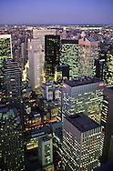 New York. elevated view on Manhattan midtown New York  Usa   /  vue panoramique sur Manhattan midtown  New York  USa