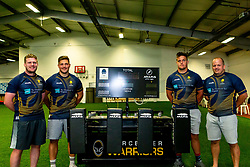Niall Annett, Ethan Waller, Callum Black and Nick Schonert of Worcester Warriors scrum machine - Mandatory by-line: Robbie Stephenson/JMP - 24/08/2020 - RUGBY - Sixways Stadium - Worcester, England - Worcester Warriors Sponsors 2020/21
