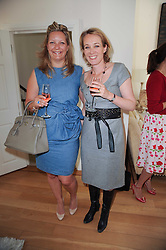 Left to right, VANESSA TURRETTINI and ANASATAIA BAKER at a party hosted by Maria Hatzistefanis to celebrate the publication of Santa Montefiore's new book 'The Affair' held at 35 Walpole Road, London on 27th April 2010.